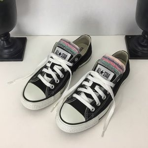 Converse Black Sneakers, W-7 M-5